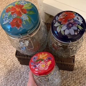 The Pioneer Woman set of glass canisters